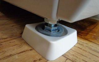 Антивибрационные подставки для стиральной машины: как выглядят, как установить своими руками