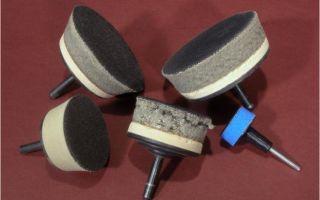 Виды шлифовальных и полировальных насадок на дрель
