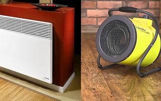 Что лучше конвектор или тепловентилятор?
