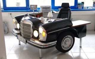 Американские дизайнеры создали необычный стол для автомобилистов