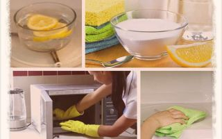 Как быстро отмыть микроволновку в домашних условиях?