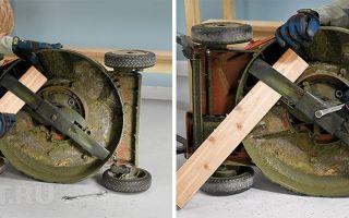 Ремонт электрических и бензиновых газонокосилок своими руками, заточка ножей и замена лески