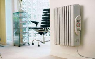 Электрический масляный настенный обогреватель: как работает