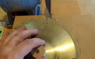 Как выбрать и заточить диск для циркулярной или торцовочной пилы, полотно для сабельной пилы
