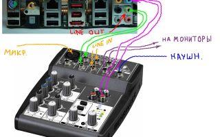Как подключить микшер к ноутбуку или компьютеру, колонкам, усилителю и звуковой карте