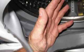 Как заклеить манжету люка стиральной машины?