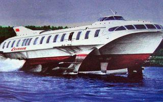 Создано пассажирское судно на подводных крыльях