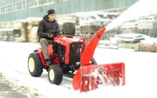 Как выбрать минитрактор для уборки снега во дворе: обзор навесного оборудования, характеристик, производителей