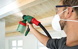 Покраска краскопультом стен, потолка, древесины: подготовка краски и технология работ