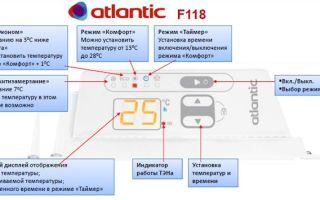 Инструкция по применению электрических конвекторов атлантик