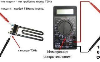 Как проверить тэн стиральной машины на исправность?