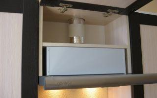 Встраиваемая вытяжка на кухню: установка в шкаф