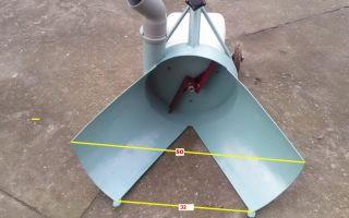 Как сделать шнековый или роторный снегоуборщик своими руками из триммера, бензопилы, мотоблока