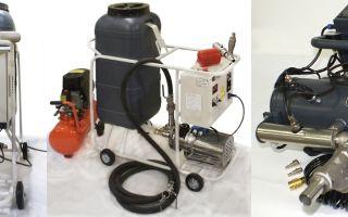 Использование компрессора и другого оборудования для промывки систем отопления