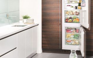Плюсы и минусы встроенного холодильника в кухню