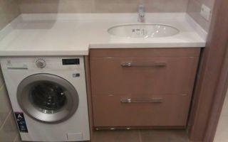 Стиральные машины, встроенные под столешницу в кухне или в ванной комнате
