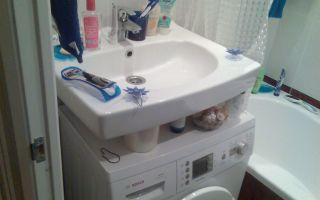 Стиральная машина под раковину: достоинства и недостатки, выбор и установка стиралки в ванной