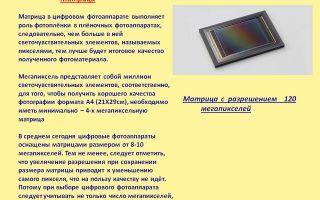 Матрица цифрового фотоаппарата: типы, размер, разрешение, светочувствительность, чистка