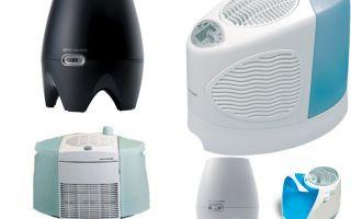 Какие бывают виды увлажнителей воздуха