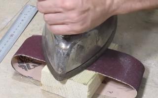 Насадки на шлифмашинки: как выбрать шлифленту и склеить ее при необходимости