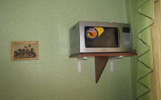 Как повесить микроволновку на стену своими руками